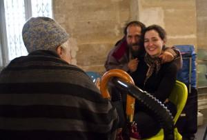 Solidarité avec les sans abris ©Géraud Bosman
