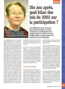 Bilan loi 2002 sur la participation, Maryse Lépée - Union sociale