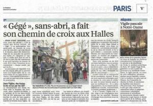 """""""Gégé"""" le sans-abri des Halles - Le parisien"""