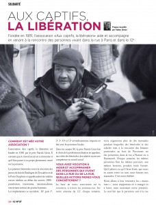 Journal 12ème arrondissement - Aux captifs, la libération