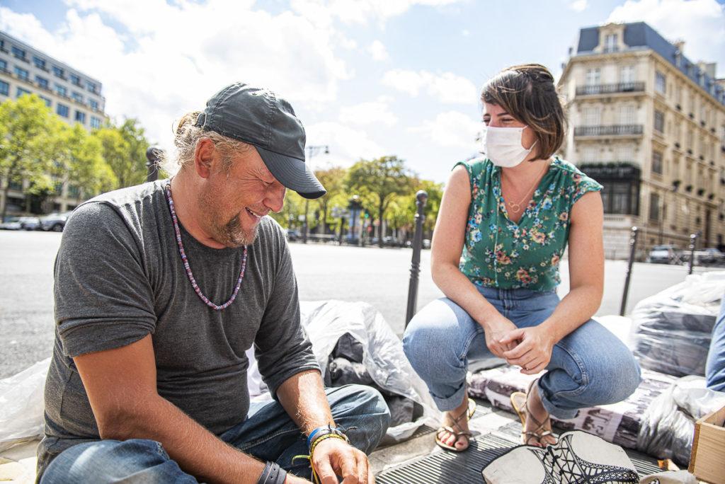 Tournée-rue sans-abri à Paris